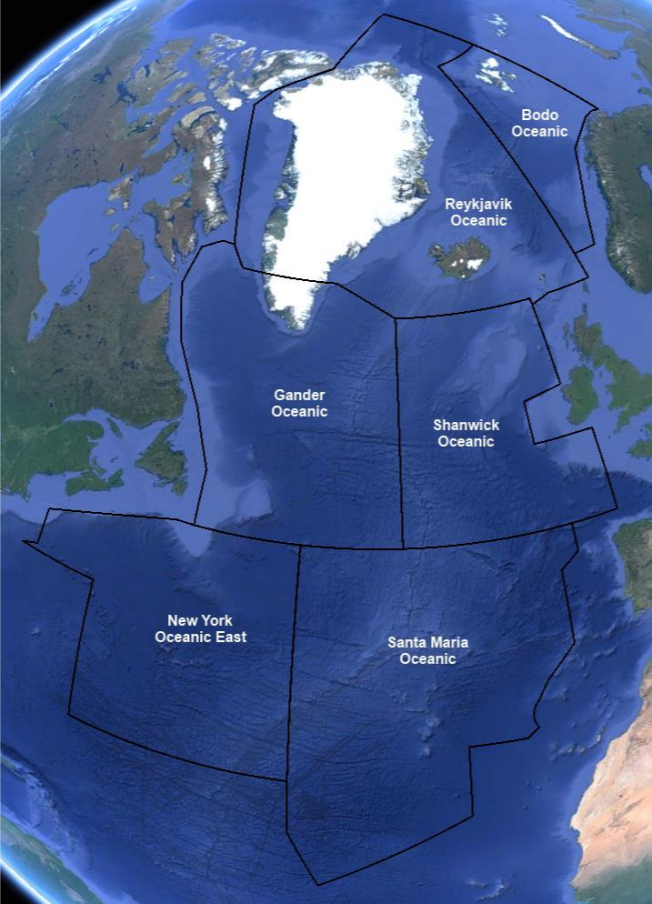 North Atlantic High Level Airspace, NAT HLA